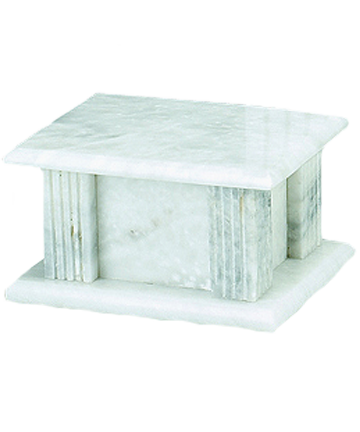 WhiteGrain Rectangle Marble Urn