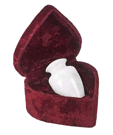 White Marble Mini-Keepsake Urn