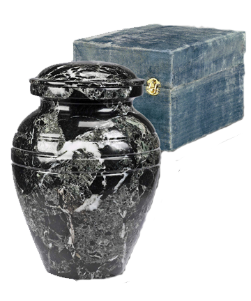 BlackGrain Marble Pet Urn