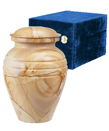 TeakWood Grain Marble Pet Urn
