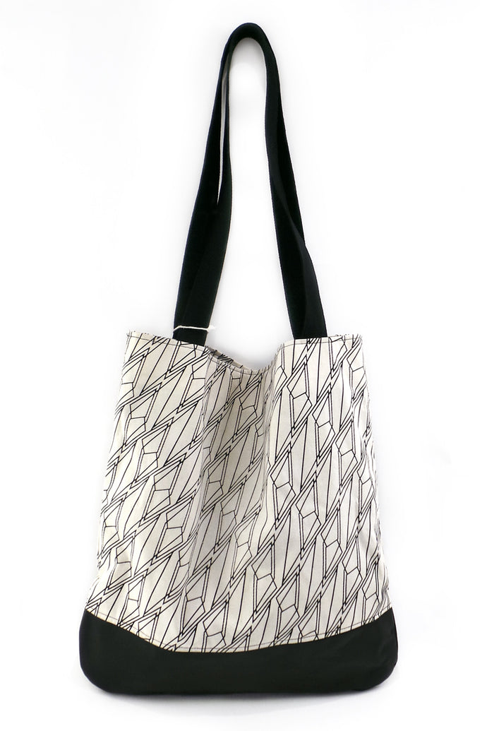 Shoppingtasche Deluxe - mit echtem Nappa-Leder – Muster 27 - Colorblind Patterns