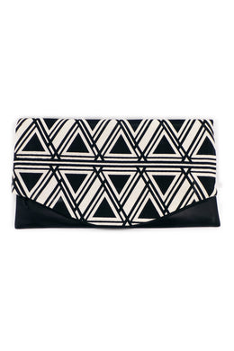 Clutch – Mit echtem Lammnappa-Leder – Muster 21 - Colorblind Patterns