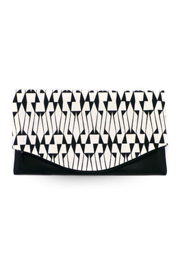 Clutch – Mit echtem Lammnappa-Leder – Muster 25 - Colorblind Patterns