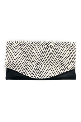 Clutch – Mit echtem Lammnappa-Leder – Muster 14 - Colorblind Patterns
