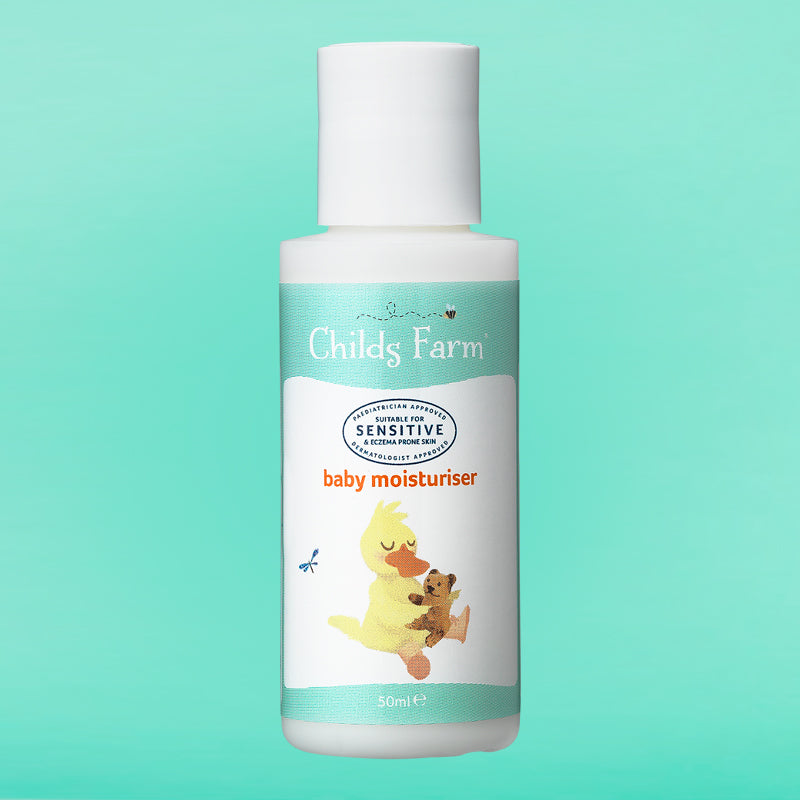 Childs Farm baby moisturiser, mildly fragranced 50ml