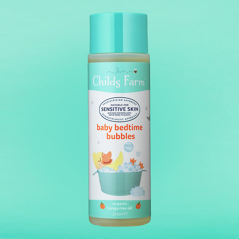 Childs Farm baby bedtime bubbles, organic tangerine 250ml