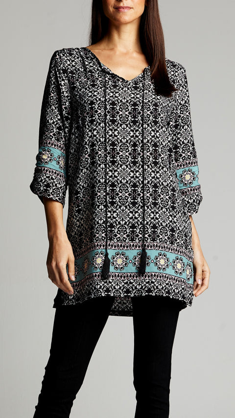 Boho Long Tunic Top