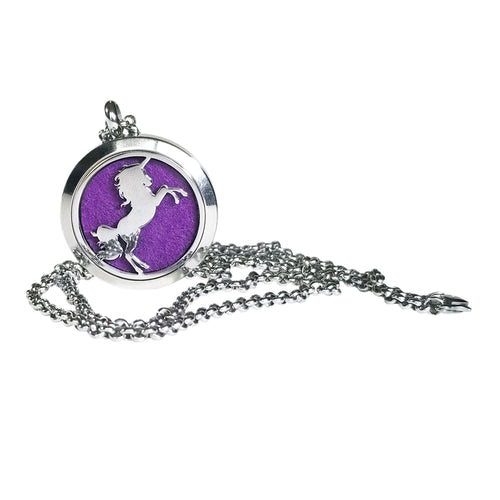Stainless Steel Unicorn Essential Oil Necklace