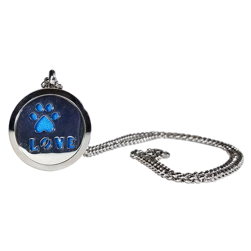 Stainless Steel Paw Essential Oils Necklace