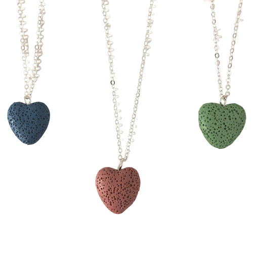 Heart Lava Stone Diffuser Necklace