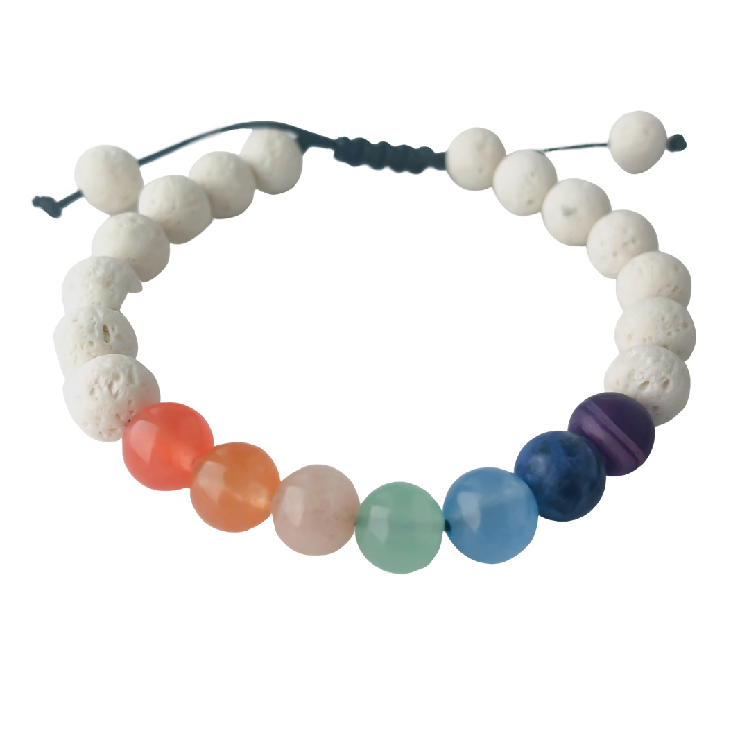 Rainbow Adjustable Diffuser Bracelet