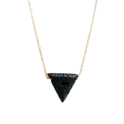 Triangle Lava Stone Diffuser Necklace