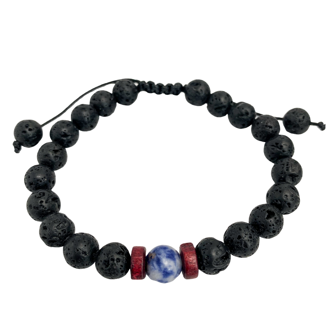 Focus Adjustable Lava Stone Diffuser Bracelet