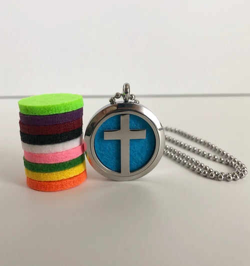 Cross Diffuser Necklace Gift Set