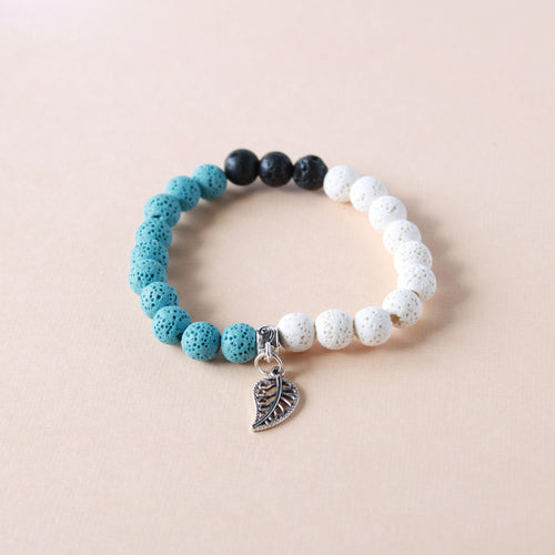 Blue Feather Lava Stone Diffuser Bracelet