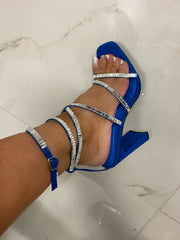 Dance Moves Royal Blue Lace Up Heels