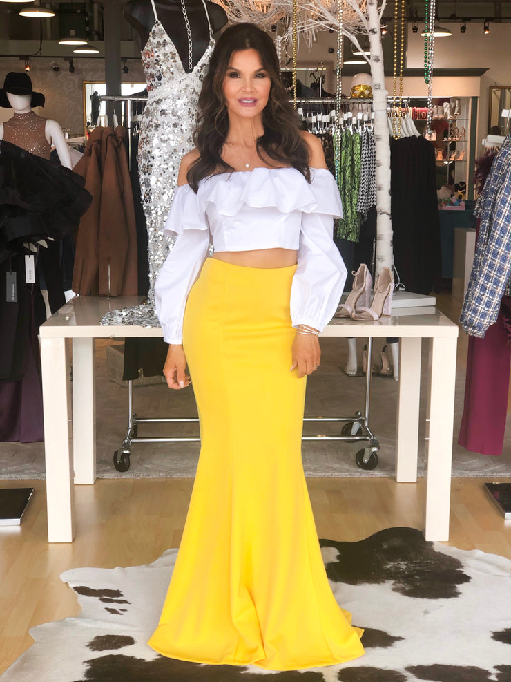 Sunflower Power Yellow Maxi Skirt