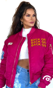 The Bomb Fuchsia Bomber Jacket