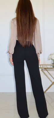 Eligible Black Flare Dress Pants