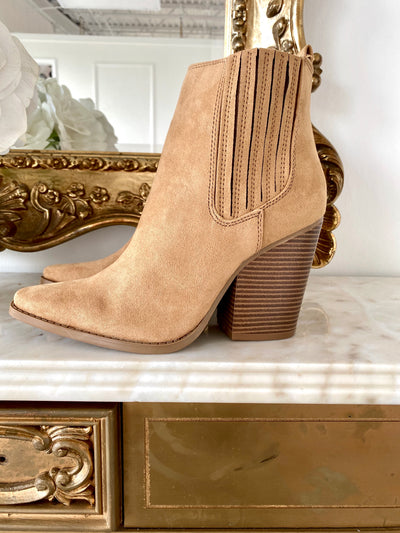 Butter Me Up Suede Pointy Toe Bootie