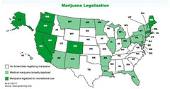 Map of Marijuana Legality in 2018