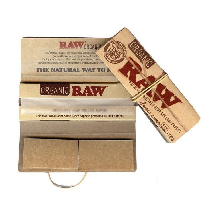 Single Pack Organic Connoisseur 1 1/4 w/ Tips by Raw