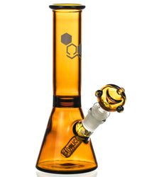 "Amber ""Basics"" 8"" Full Color Beaker Bong by Nucleus"