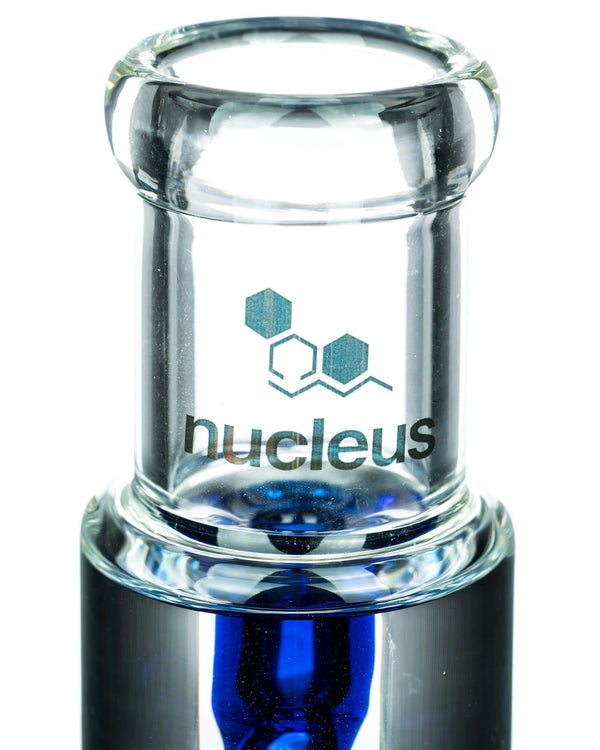 Blue Glycerin Coil w/ Colored Inline Perc Bong by Nucleus