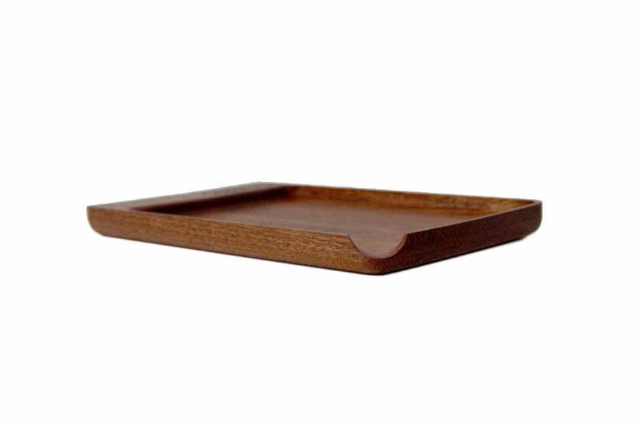 Mahogany Rolling Tray by Cannador