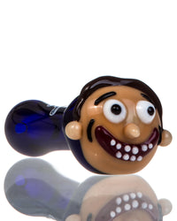 Morty Themed Glass Pipe by Chameleon Glass - online smoke shop