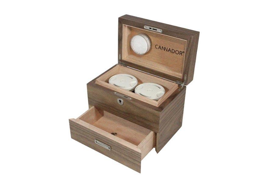 Cherry 2-Strain Humidor (w/Drawer) by Cannador