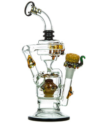 Beehive Recycler Water Pipe by Empire Glassworks