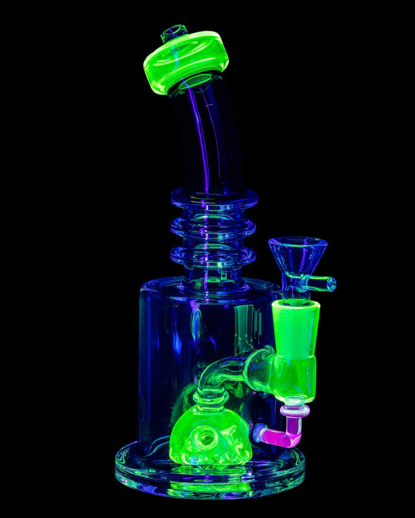 Green UV Reactive Bong by Nucleus