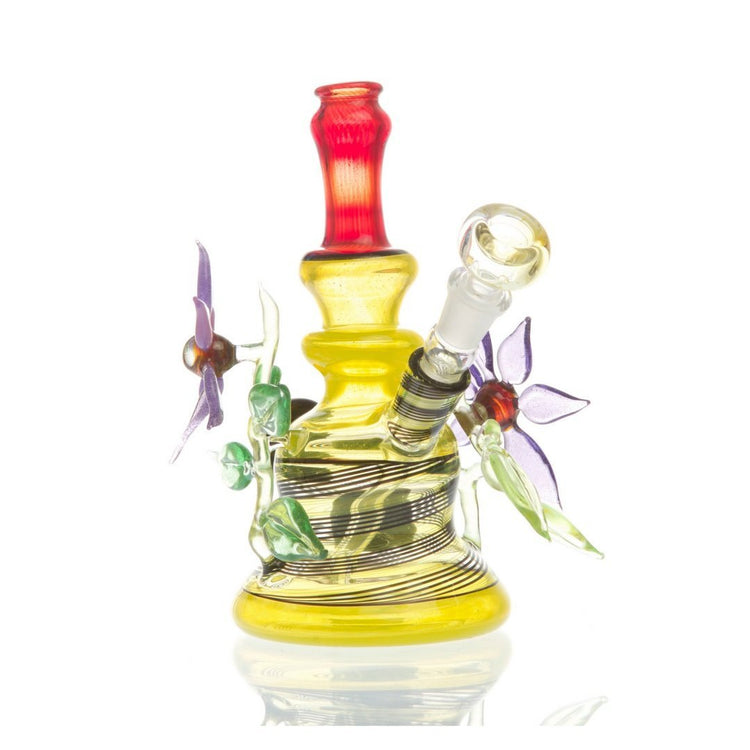 Lemon Drop Dual Use Water Pipe by Grog Glass