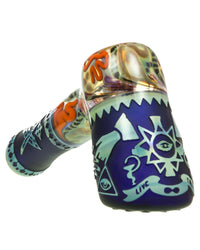 Sandblasted Hammer Pipe by Liberty 503 Glass