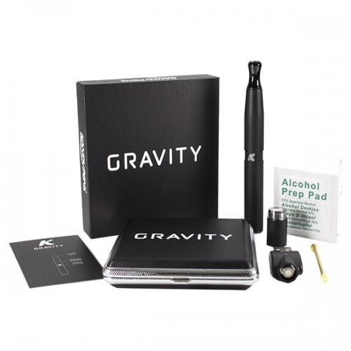 Glassy Black Gravity Vaporizer by Kandy Pens