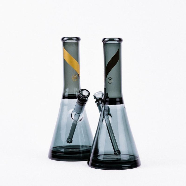 Smoked Glass Water Pipe by Marley Natural