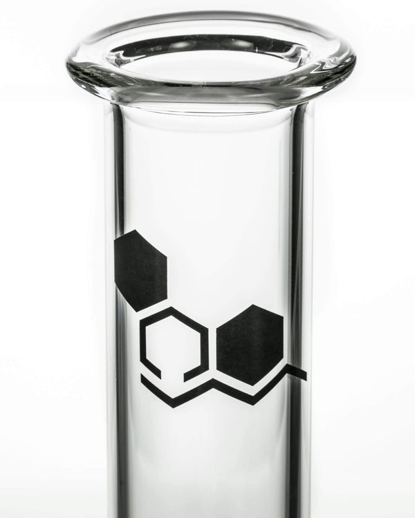 """Basics"" 8"" Clear Glass Beaker Bong by Nucleus"