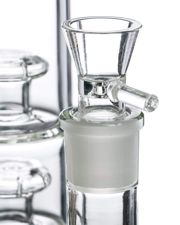 Stacked Inverted Showerhead Perc Bong by Nucleus