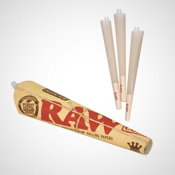 Single Pack Pre-Rolled Organic Kingsize Cones by Raw