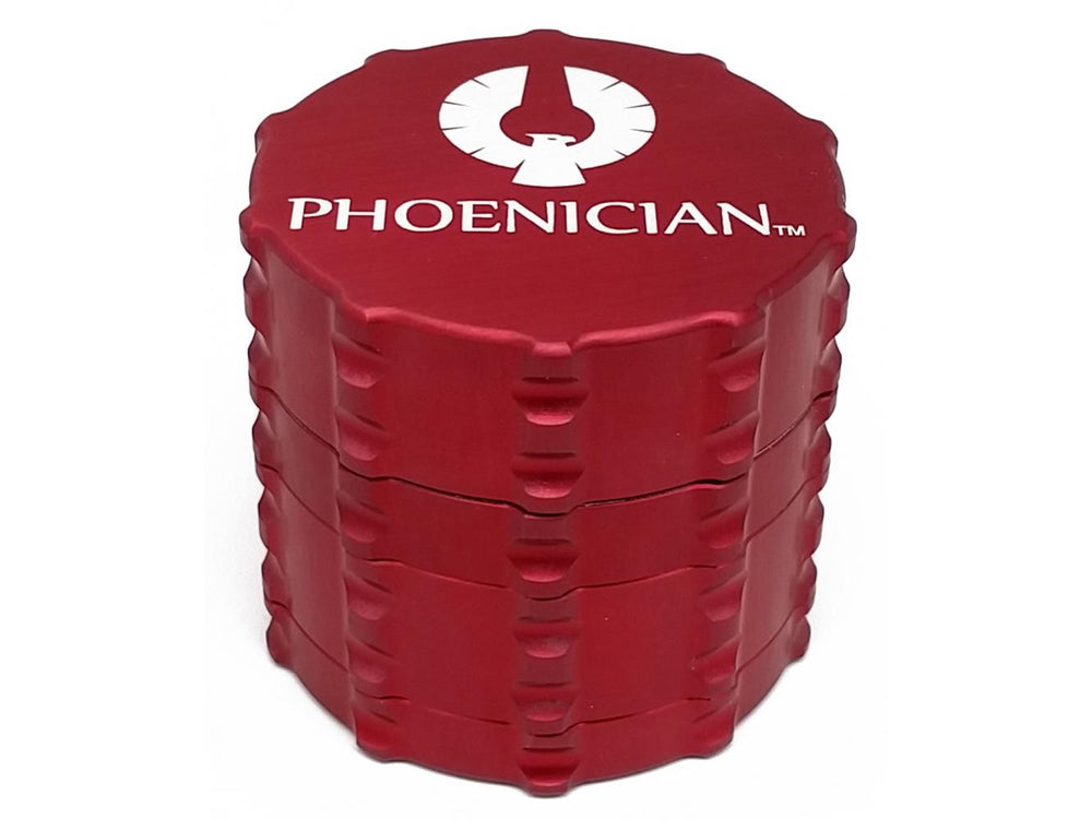 Black / Small 4-Piece Grinder by Phoenician Engineering - online smoke shop