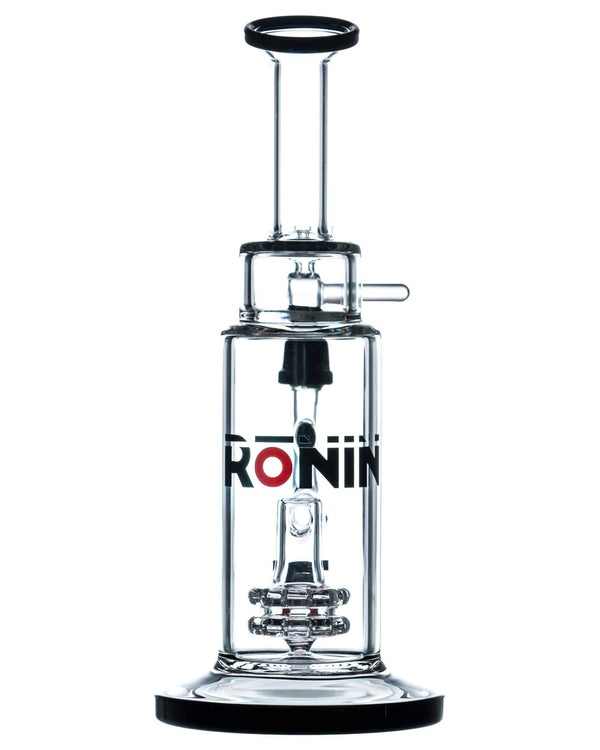 """Bun'ei"" Double Disc Perc Bong by Ronin Glass"