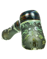Sandblasted Wig Wag Hammer Pipe by Liberty 503 Glass