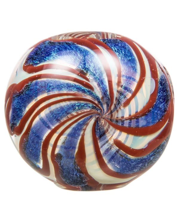 Patriot Swirl Pipe by Signature Glassworks
