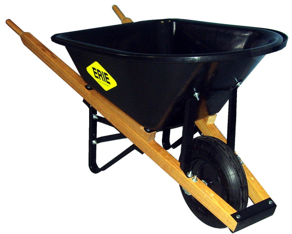Erie 1035P 6 cu. ft. Poly Contractor Wheelbarrow (7502477125)