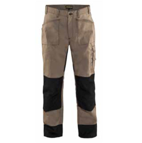 CLEARANCE - Blaklader  1681-1380 Heavy Work Pant Khaki/Black - No Utility Pockets