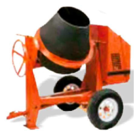 Crown C9P - 9 cu ft Poly Drum Concrete Mixer - (FREE SHIPPING - conditions apply)