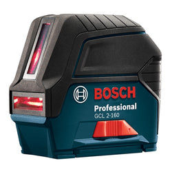 Bosch GCL 2-160 + LR 6 Self-Leveling Cross-Line Laser with Plumb Points