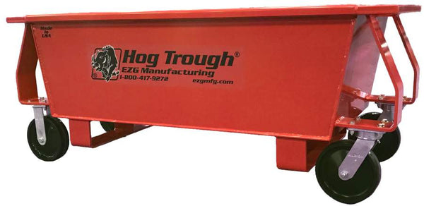 EZG HT10W Steel Hog Trough w/ Wheels