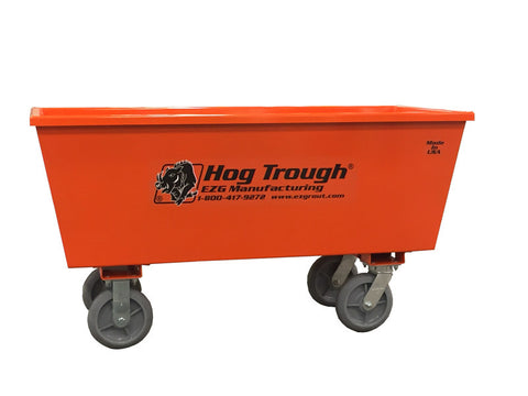 EZG HTS10W Steel Hog Trough w/ Wheels